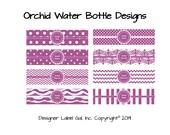 30 Personalized Orchid Waterproof Water Bottle Labels