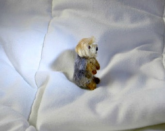 Needle Felted Dog / Custom 1/12 scale  Miniature Sculpture of your pet / Dollhouse size