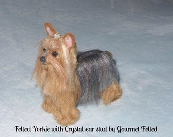 Gift for Her / Felted Miniature of your Pet  / Custom made Pet Portrait / Cute / poseable / example Yorkie