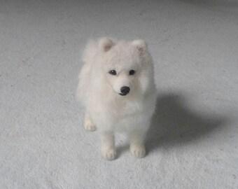 Miniature Needle Felted Dog / Custom Portrait Sculpture of your pet / Cute  / poseable