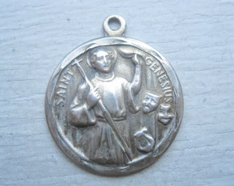 Vintage sterling silver religious medal