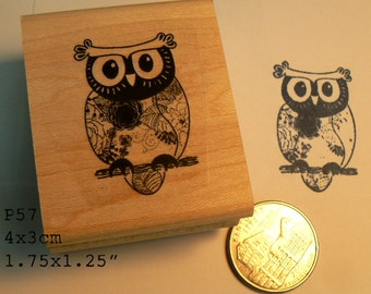 P57 Owl  rubber stamp