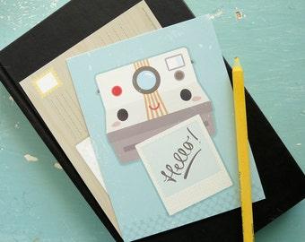 Postcard Pack : Hello Old School Camera Postcard