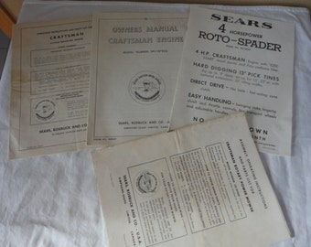 Vintage Lot Sears Roebuck Craftsman Tools Accessories Instructions Parts Lists Free Ship