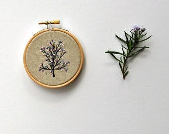 Tiny Tree III - hand embroidery hoop art