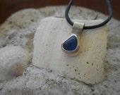 Coast...blue sea glass necklace