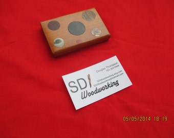 Handcrafted Wood Business card case Number 1125