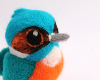 Needle Felted Kingfisher British Kingfisher Bird Ornament