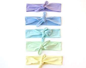 Skinny Tie Up Headscarf // Knotted Headband // Hair wrap // Yoga Hairband // Pastel Headband // Spring Hairband