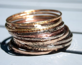 Bangle Bracelets in Your Choice of Brass, Copper, or Nickel. Bangles for South Sudan