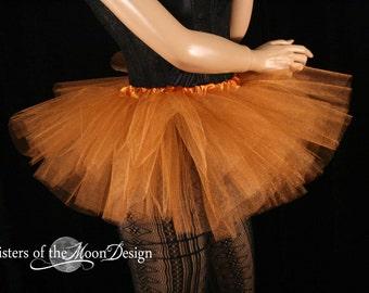 Mini micro tutu skirt copper glimmer dance costume roller derby gogo dancer race run teen child girls -You Choose Size - Sisters Of the Moon