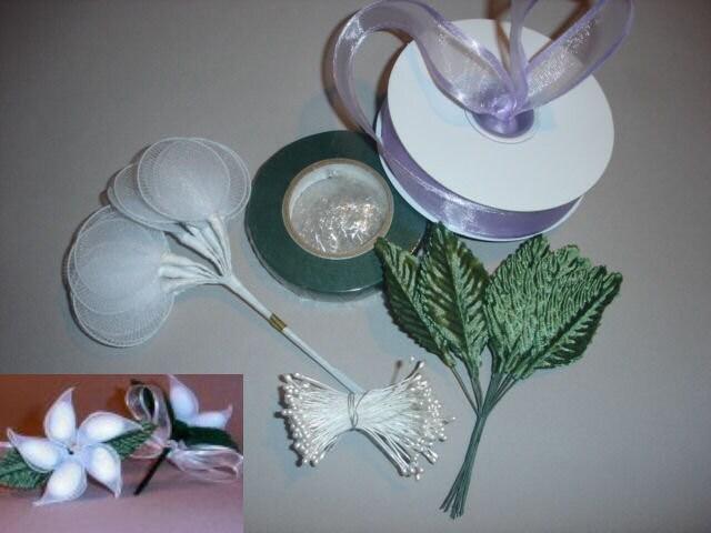DIY Jordan Almond Flower Wedding Bridal Shower Favor Kit