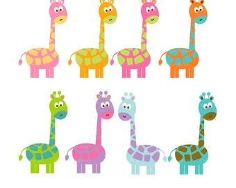 Summer Giraffe Clip Art - Party Images
