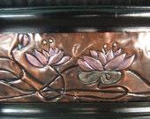 Framed WaterLilies in Copper