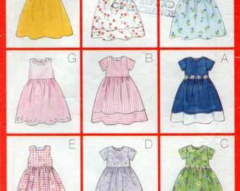 9 Easy Girls Summer Dress Sewing Pattern Size 6 7 8 Butterick 5959