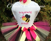 Bumble Bee 1st Birthday Outfit - Baby Girl First Birthdy Tutu - Smash Cake Outfit - Girl 1st Birthday Dress - Bumble Bee Birthday Party