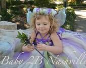 Flower Girl Dress, Flower Girl Tutu Dress, Purple Fairy  Dress, Wedding Flower Girl Tutu Dress  Baby up to 4T