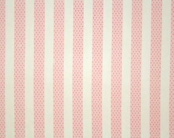 1940's Vintage Wallpaper - Pink and White Stripe - Cute Pastel Nursery Wallpaper