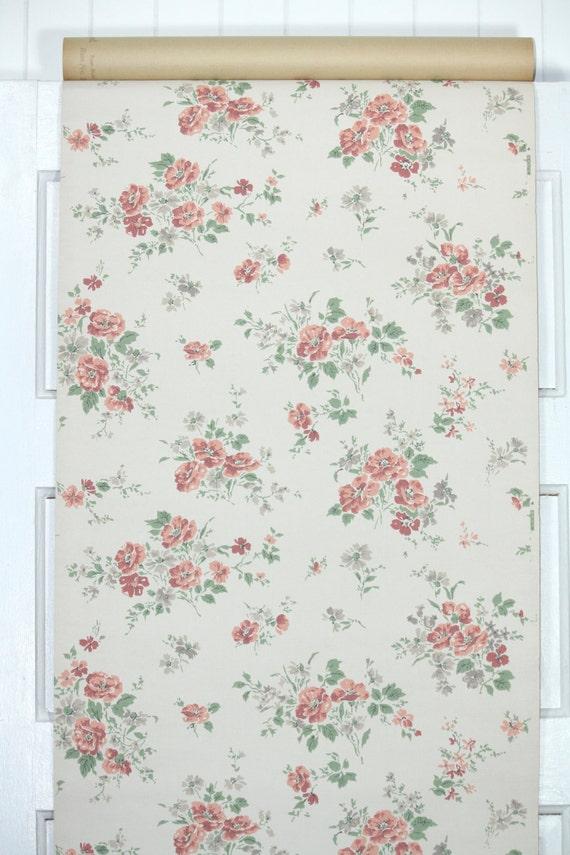 papier peint vintage des ann es 1950 vintage floral fond. Black Bedroom Furniture Sets. Home Design Ideas