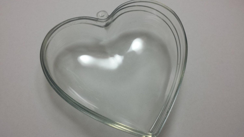 Clear acrylic fillable ornaments -  5 75