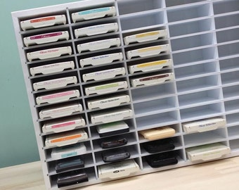"Ink Pad Storage Organizer for 60 Stampin' Up etc (up to 4"" wide pads)"