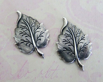 NEW Silver Leaf Findings 3540