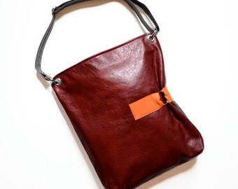 Leather Crossbody Bag / Leather Purse / Crossbody Bag Women / Laptop Bag / Shoulder Bag / Large Leather Bag - The Luella Bag in Oxblood Red