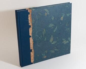 Photo Album Navy Mango Leaf - great for Weddings, Birthdays, Showers and Scrapbooks