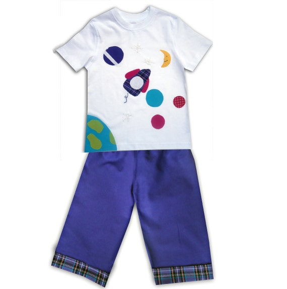 Space Tee Shirt And Pants T Shirt And Trousers Boys Outfit