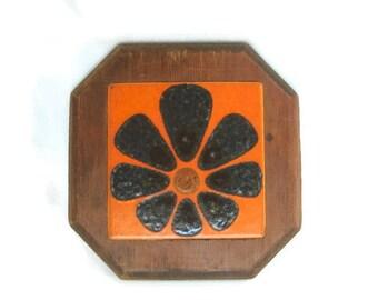 Vintage Mod Flower Power Tile Trivet