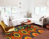 Decorative Rug, modern rug, contemporary rug, carpet, colorufl rug, contemporary rug, living room decor, original rug, boyfriend gifts