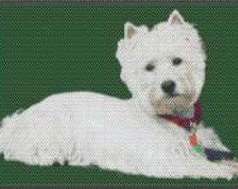 Large Westhighland Terrier Tapestry Beaded Pattern