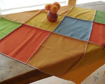 Five Color Patchwork Designer Table Runner