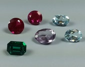 Mixed Lot of 6 Cubic Zirconia , Genuine and Made Made Color Stones at 1980's Prices.....Sparkling and Beautiful !