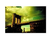 Brooklyn Bridge 2 . Lomo LC Wide Series  . 8x10 Print