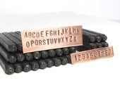 Block 4mm Capital Arial Letter Number Stamps in Wood Box for hand stamping fun