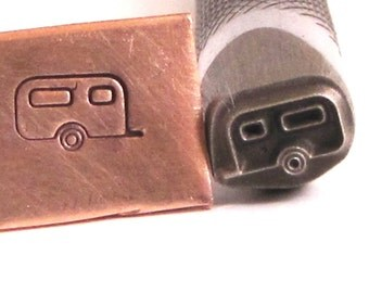 Caravan trailer 8 x 4.5 mm design stamp professional grade  with you in mind for stainless.