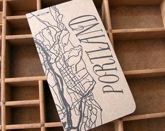 letterpress Portland notepad
