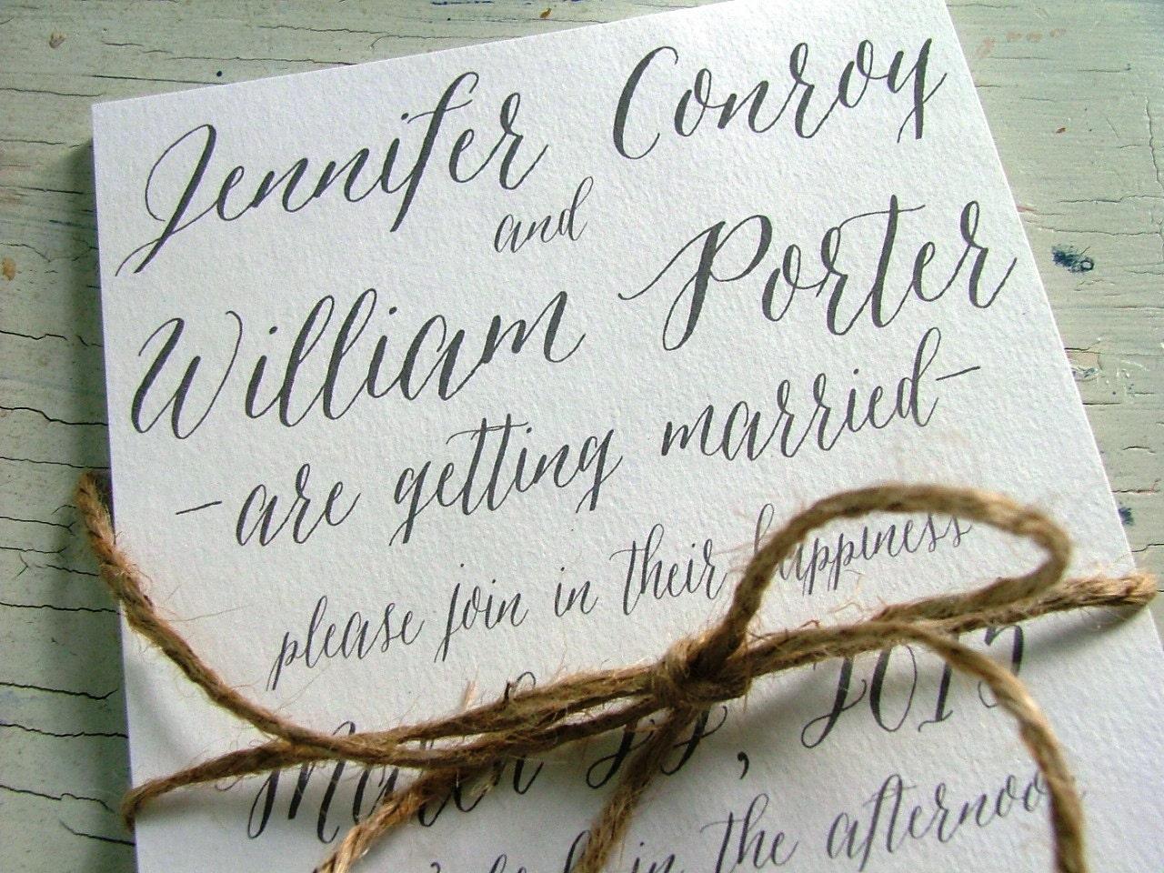 Simple wedding invitations, gray wedding invitations, unique modern ...