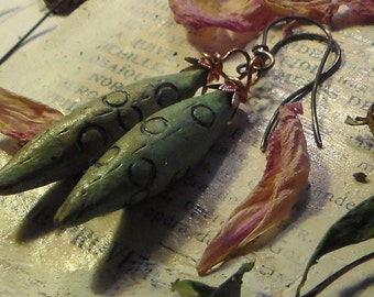 Primitive Rustic Pod earrings