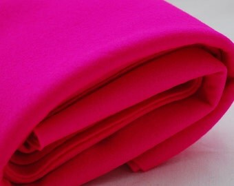 100% Pure Wool Felt Fabric - 1mm Thick - Made in Western Europe - Hot Pink