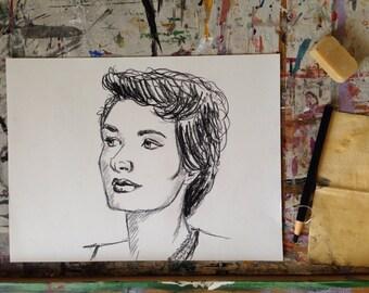 Commissioned Charcoal Portrait - Original Artwork