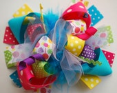 boutique FUNKY fun BRIGHT CANDYLAND hair bow clip