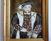 Henry VIII Miniature Painting 1/12th scale Original Acrylic