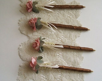 One Pen Beautiful Floral Satin Wrapped,Sign In or Stationary Pen