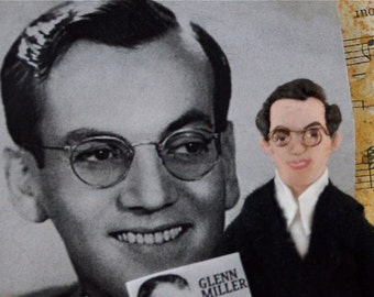 Glenn Miller Doll Miniature Art Bandleader Art Character