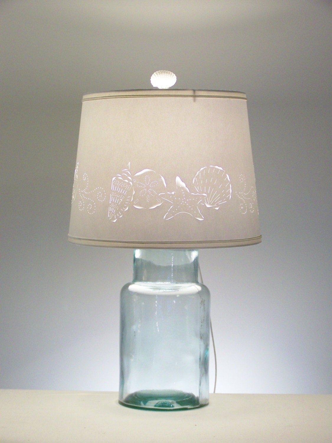 Fillable Beach Table Lamp Fillable Lamp Seashell Fillable