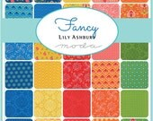 FANCY - Moda Fabric Charm Pack - Five Inch Quilt Squares Quilting Material Blocks