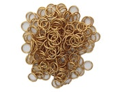 7mm ID Open Raw Brass Jump Rings 18 Gauge Made in the USA (100) fnd203A