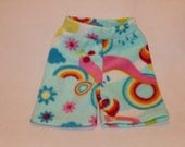 Final Clearance: Springtime fleece boxers / shorties for play and fitted cloth diaper covering. Size large